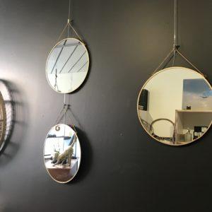 miroir rond à suspendre
