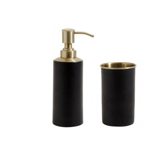 Distributeur à savon et verre